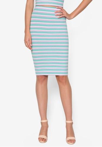 條紋鉛筆裙, 服飾,esprit 香港 服飾