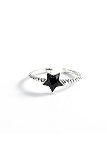 OrBeing 白色 Premium S925 Sliver Geometric Ring 36BADACBC0ABF3GS_1