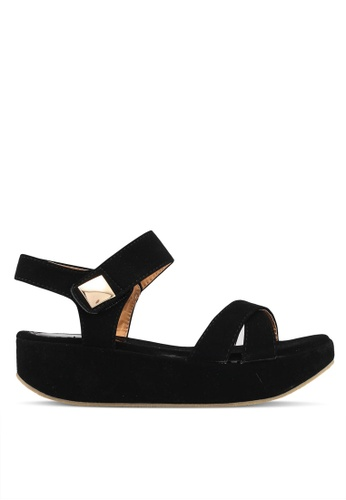 Mimosa black Faux Suede Wedges 3E9EESH99A619EGS_1