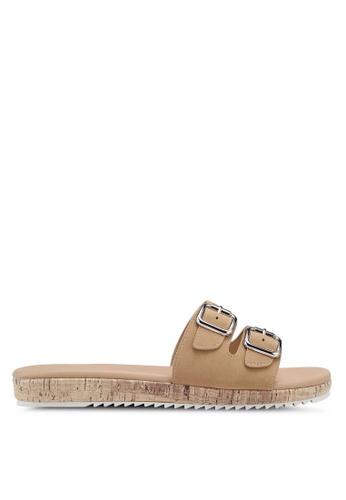 Bata 米褐色 雙金屬釦拖鞋 2AED7SHEFAFC8AGS_1