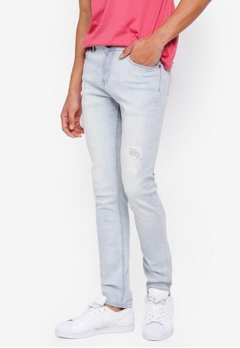 Penshoppe blue Skinny Fit Jeans FA4F5AA30CD78CGS_1