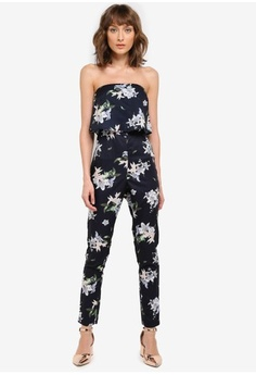 859b412767b1 MISSGUIDED. Printed Bandeau Double Layer Jumpsuit