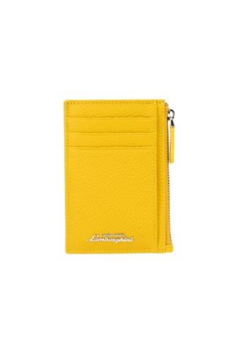 Lamborghini yellow Automobili Lamborghini® Script Yellow Wallet C1670AC5695C5CGS_1