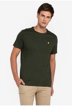 04a4ba968a Burton Menswear London green Khaki T-Shirt With Pineapple Embroidery  DEBC8AAB5AB77FGS_1