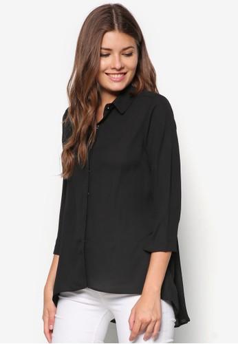 褶飾長袖襯衫,esprit taiwan 服飾, 上衣