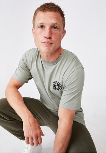 Cotton On green Tbar Art T-Shirt 018D8AA3951FC5GS_1