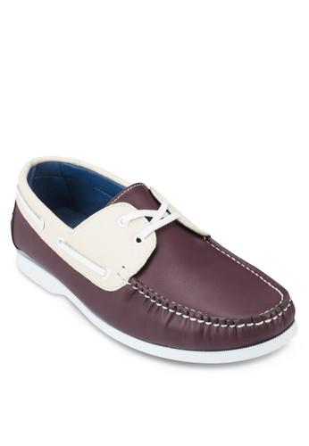 拼色zalora taiwan 時尚購物網鞋子仿皮船型鞋, 鞋, 船型鞋