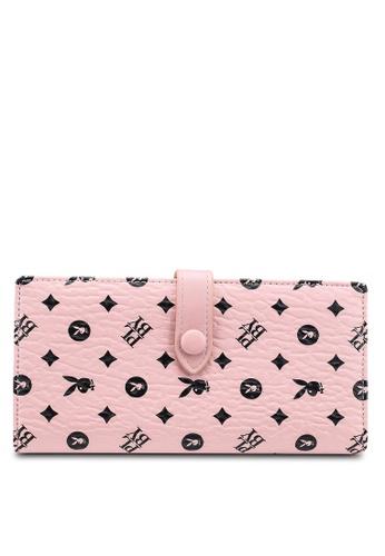 PLAYBOY BUNNY pink Logo Long Purse EE728AC110B0E1GS_1
