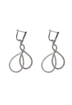 Double Infinity Clip-On Earrings