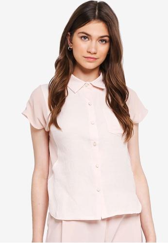 Eyescream pink Basic Short Sleeve Shirt 929DBAA7AF6958GS_1