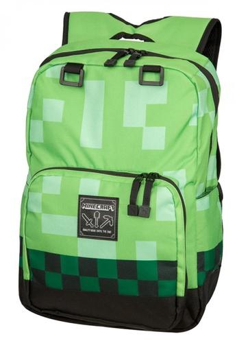 "Jinx green Minecraft 18"" Creeper Kids Backpack 976C3KCB7CC803GS_1"
