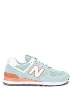 9f3d30d3382c5 New Balance green 574 Classic Essentials Pack Lifestyle Sneakers  F64DBSH87CA036GS_1