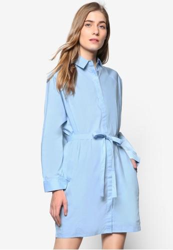 簡約繫帶襯衫式洋esprit鞋子裝, 服飾, 洋裝