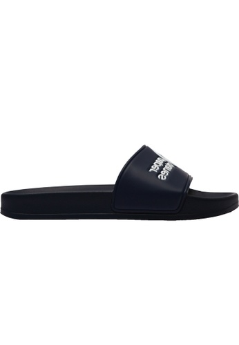 paperplanes black and navy Paperplanes-1357 Daily Comfort Casual Slippers Shoes US Women Size PA355SH93QNUSG_1