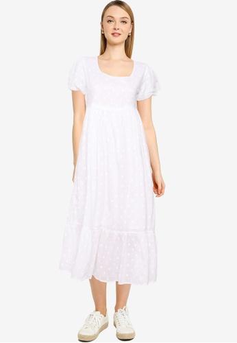 Cotton On white Woven Lange Babydoll Medaxi Dress 84C0EAA7B94052GS_1