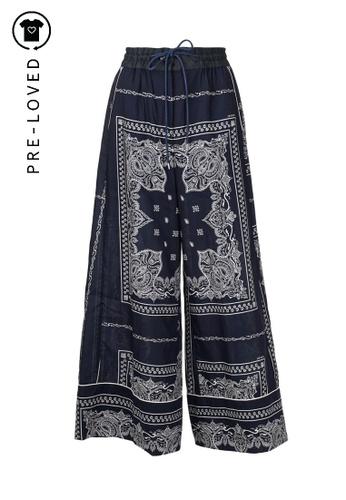 Sacai blue Pre-Loved sacai Printed Paisley Print Trousers 10919AAC9001B1GS_1