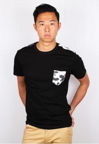 Moley black Modern Camo Pocket T-Shirt E4ECAAA41FA360GS_1