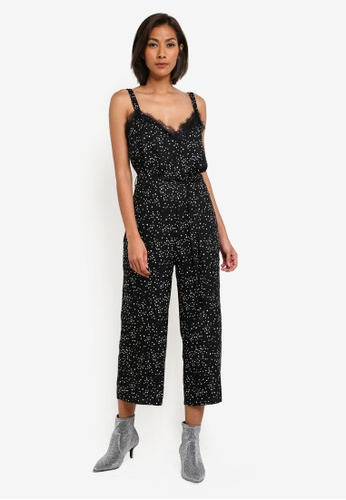 Miss Selfridge multi Star Monochrome Lace Jumpsuit MI665AA0SABQMY_1
