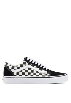 97dac8199bc VANS black and white Old Skool Primary Check Sneakers 2C6B8SH3D34429GS 1