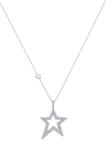 Elli Germany silver Elli Germany Necklace Star Swarovski Crystals 925 Silver EL474AC0SEVFMY_1