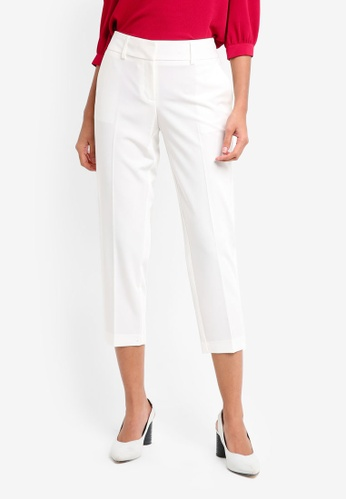 Dorothy Perkins white Petite Naples Ankle Grazer Trousers B9342AAE8D5BCAGS_1