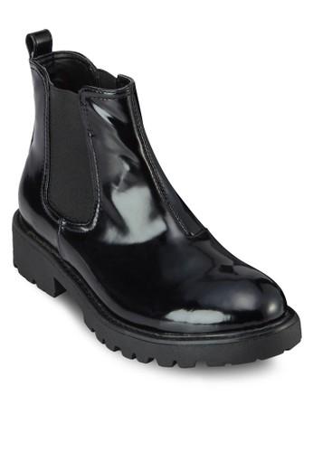 Whistler 亮面仿皮短靴, 女zalora taiwan 時尚購物網鞋, 鞋