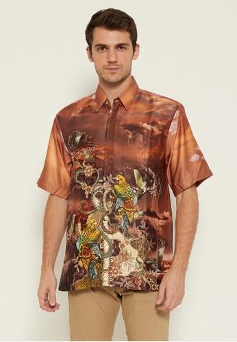 Batik Wibowo red Melfort Batik Shirt 12ED8AA468FA98GS_1