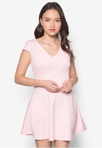 素色蓋袖傘狀洋裝, 服飾zalora 衣服評價, 夏日洋裝