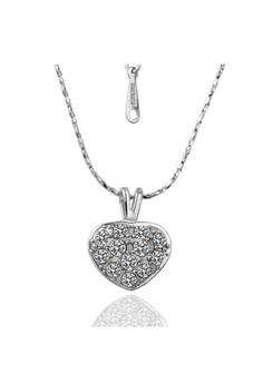 Sherie Heart Diamond White Gold Necklace