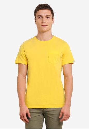 "Timberland yellow Short Sleeve Kennebec River ""Lived In"" Seasonal Storyteller Tee TI063AA0SB8UMY_1"