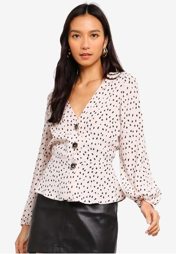 0aac262752c Shop River Island Ls Betsy Tea Top Online on ZALORA Philippines