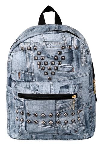 Vince blue Korean Designed Jeans BackPack ( Blue ) FL898AC61AOOMY_1