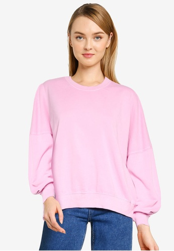 Cotton On pink Harper Boxy Graphic Crew Sweatshirt 167EEAA7984F27GS_1