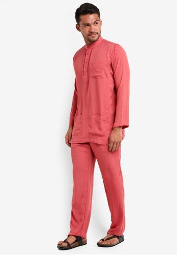 Lubna red Baju Melayu Cekak Musang 63540AA0A1624AGS_1