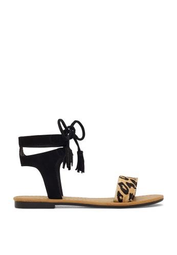 ROC Boots Australia multi Elan Black/Leopard Sandal RO289SH47BPWSG_1