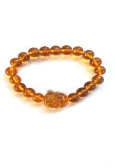 Feng Shui Citrine Laughing Buddha Bracelet Small