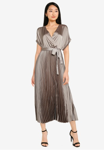 ONLY grey Blanche Short Sleeve Midi Dress C74DBAA078BF93GS_1