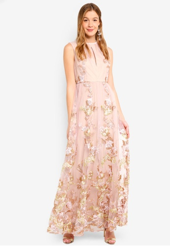 True Decadence pink Embroidered Sleeveless Dress D95A9AA1B606C9GS_1