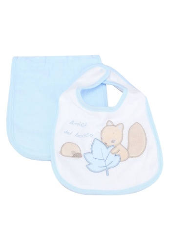 OVS blue Table Mat And Bib Set With Animals 12E74KCA89F270GS_1
