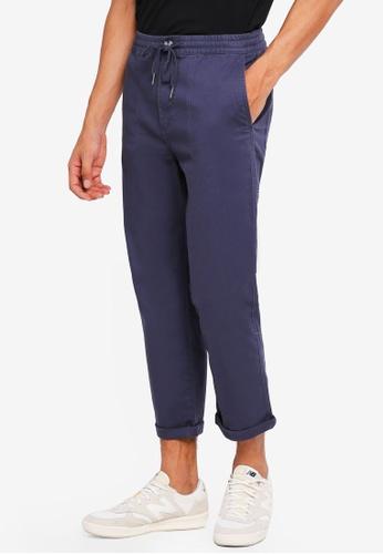 Cotton On 海軍藍色 休閒抽繩褲 942FFAA83CD5ACGS_1