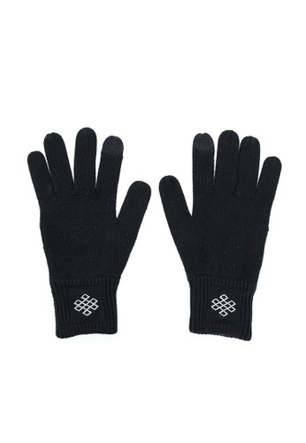 esprit台灣官網永恆之結觸控手套 - 黑(M), 飾品配件, 手套