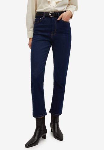 Mango blue High Waist Straight Jeans 397F4AA3FC53D1GS_1