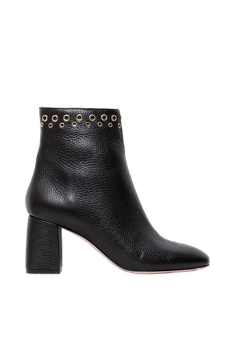 RED VALENTINO black RED VALENTINO 70MM TUMBLED LEATHER ANKLE BOOTS C837ESH25C5051GS_1