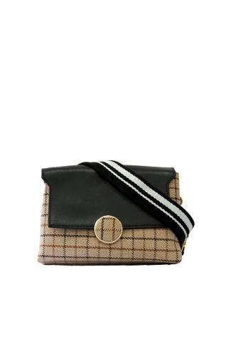 GreyPlus black HAILEY Tweed Sling Bag AFE55AC6CFD1E8GS_1