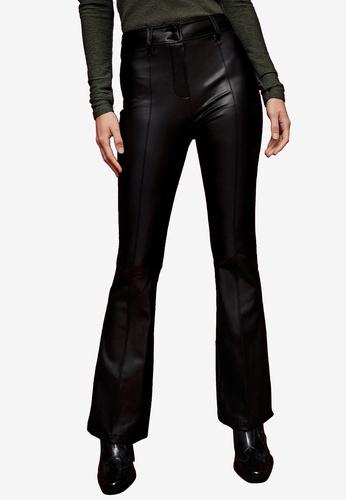 TOPSHOP black Black Pu Flare Trousers A19C2AA6BAC2C9GS_1