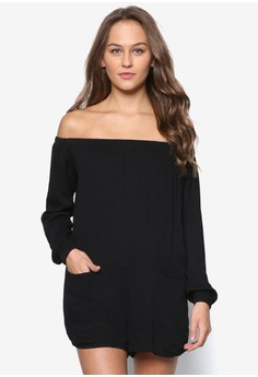 Relax Fit Off Shoulder Romper