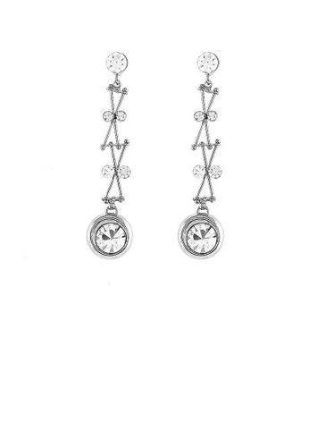 Glamorousky silver Enchanting Earrings with Silver Austrian Element Crystal 0B64FAC9904FEEGS_1