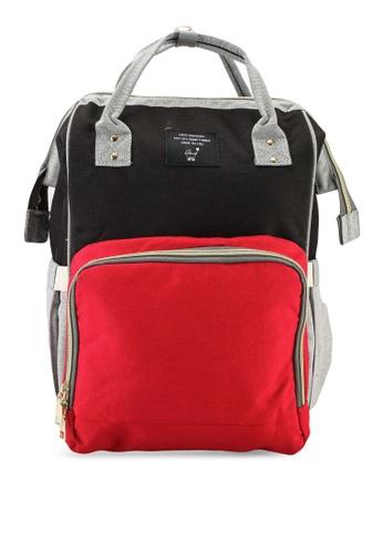 Bagstationz black Travel Diaper Backpack B4AB1ACBB0B1EDGS_1