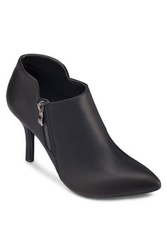 Bootie Heels With Side Zippers