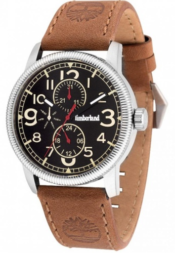 Timberland brown Timberland Erving TBL.14812JS/02 Brown Leather Strap Black Dial Ladies Watch TI063AC27EKQMY_1
